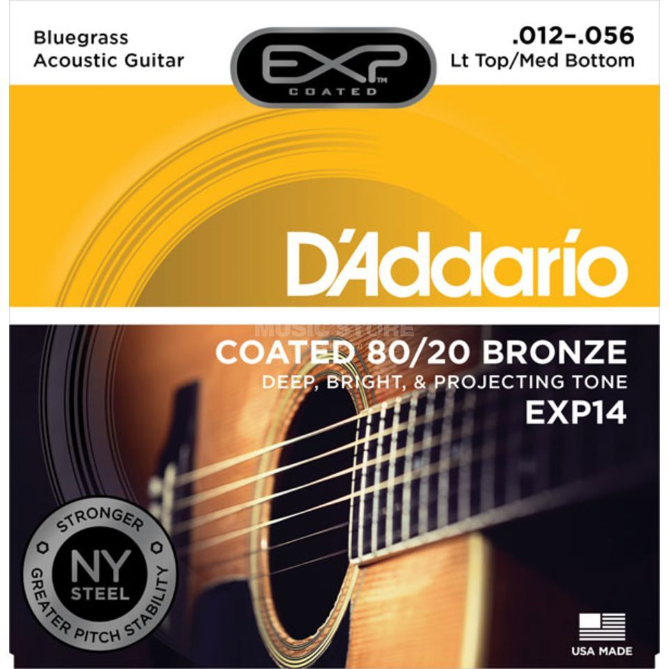 D'Addario A-Guit.Strings EXP14 12-56 Coated 80/20 Bronze Produktbillede