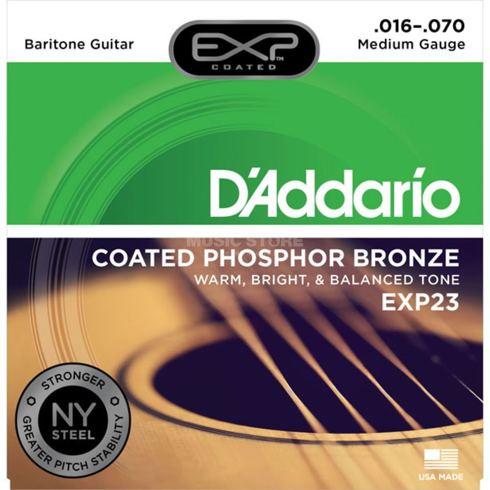 D'Addario A-Guit.Strings EXP23 16-70 Coated Phosphor Bronze Produktbillede