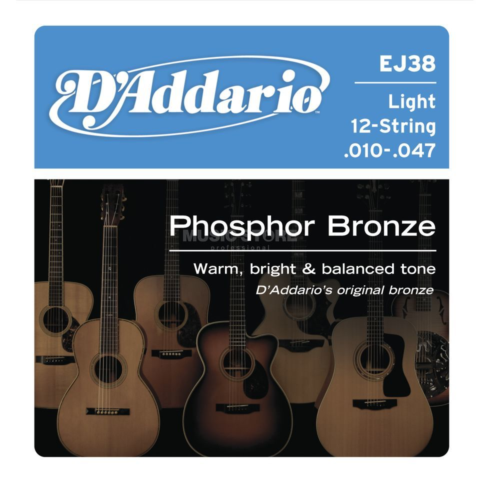 D'Addario A-Guitar Strings 12-String EJ38 ExtraLight Product Image