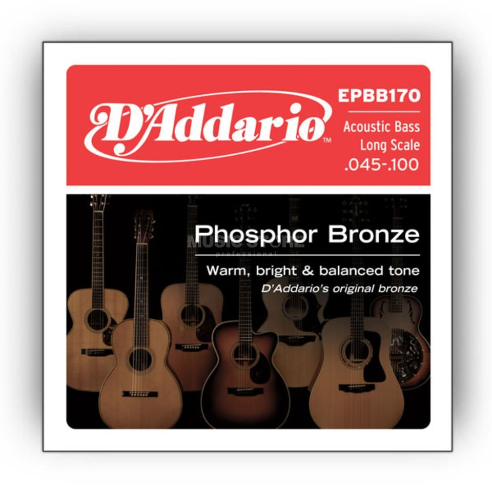 D'Addario Acoustic Bass Strings 45-100 45-65-80-100 Produktbillede