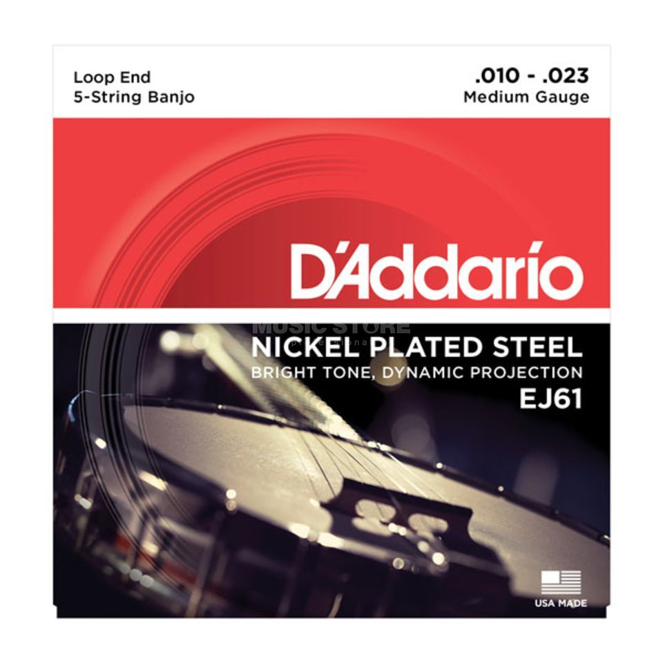 D'Addario Banjo Saiten EJ61 10-23 5-String Nickel Loop End Produktbild