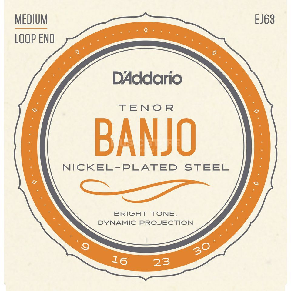 D'Addario Banjo Saiten J63 Tenor 4-String Nickel Loop End Produktbild