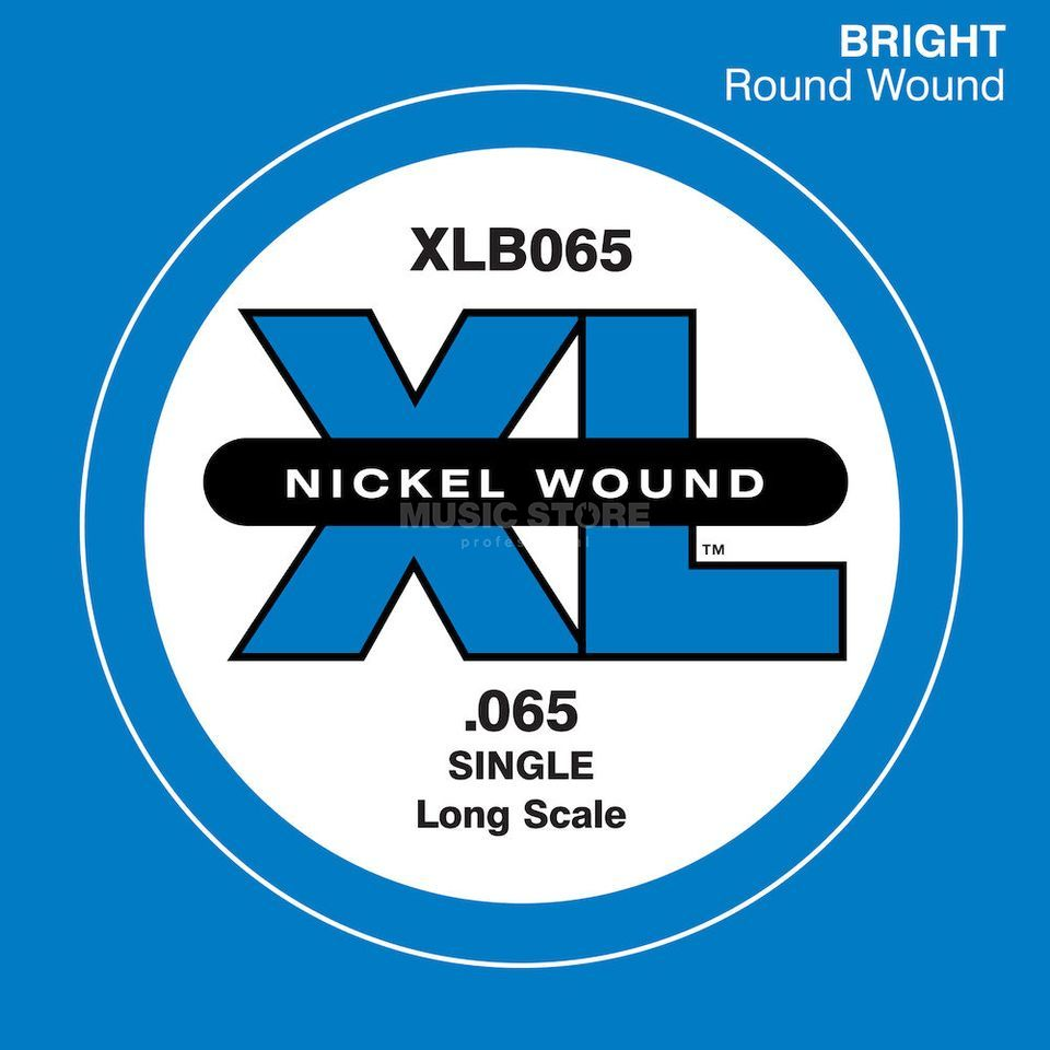 D'Addario Bass Single String XLB065 XL Nickel Wound Product Image