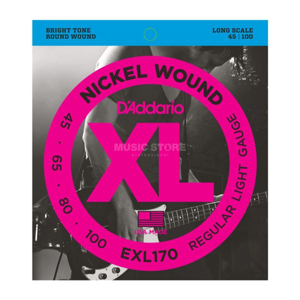 D'Addario Bass Strings XL Nickel 45-100 45-65-80-100, EXL170 Изображение товара