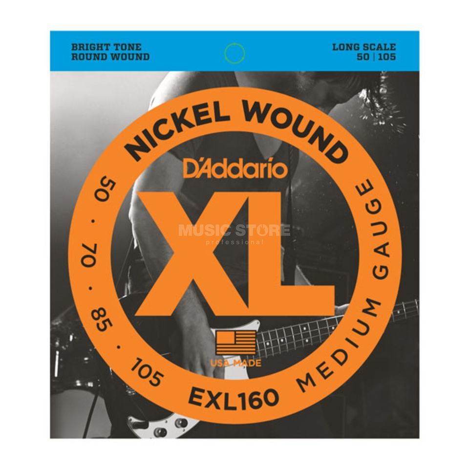 D'Addario Bass Strings XL Nickel 50-105 50-70-85-105, EXL160 Изображение товара