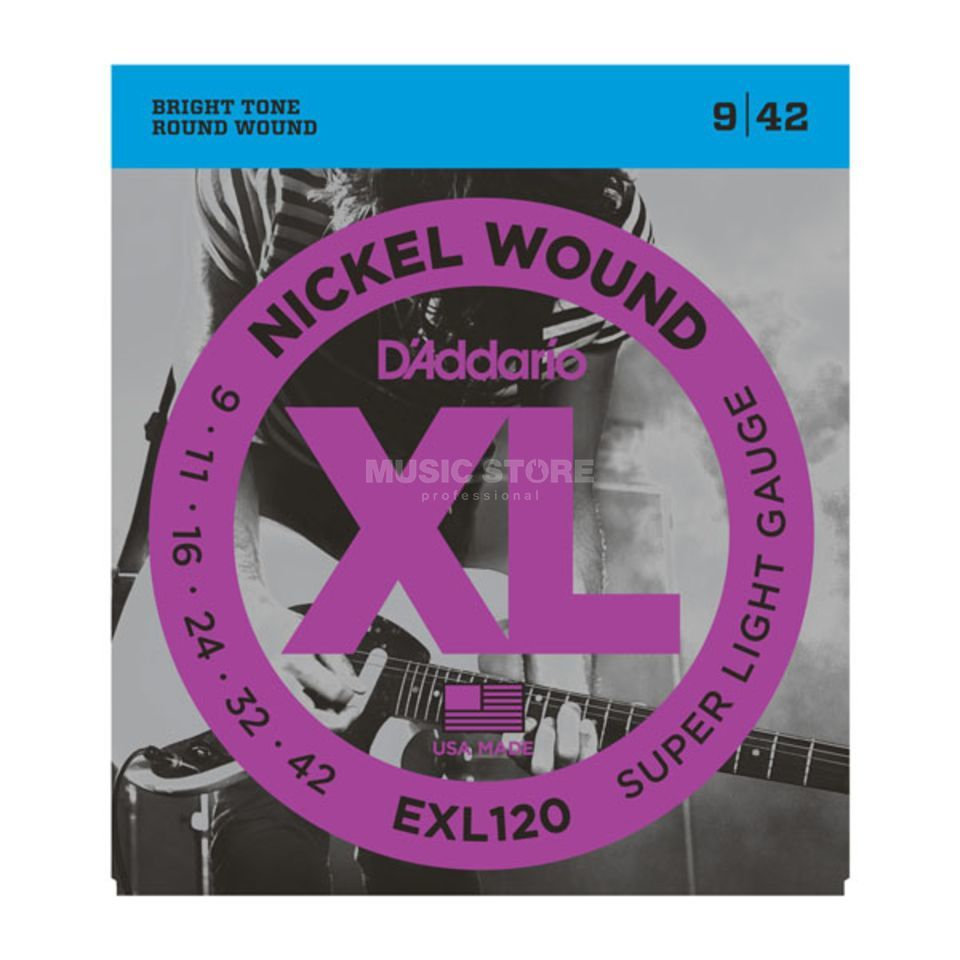 D'Addario E-Guit.Strings EXL120 09-42 Nickel Wound Product Image