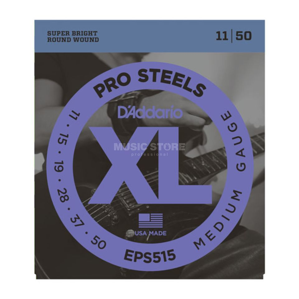 D'Addario E-Guitar Strings EPS515 11-50 Stainless Steel Round Wound Produktbillede
