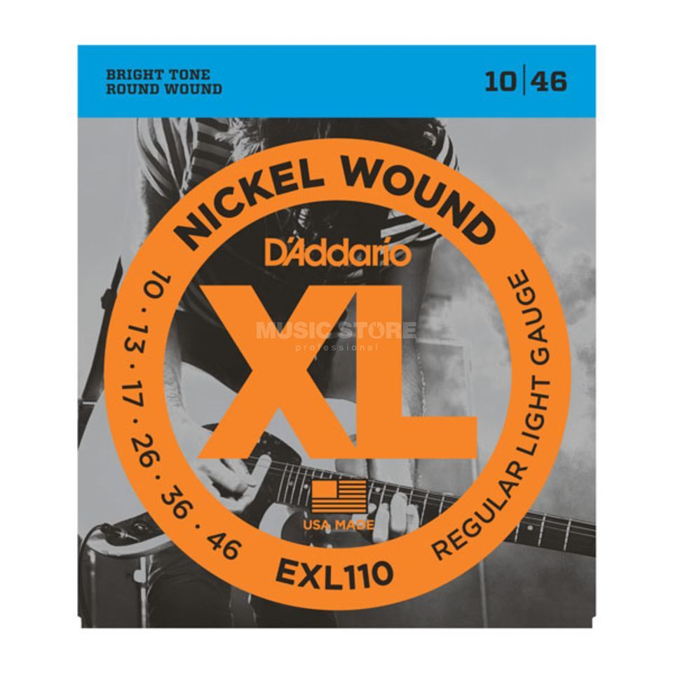 D'Addario E-Guitar Strings EXL110 10-46 Nickel Wound Produktbillede
