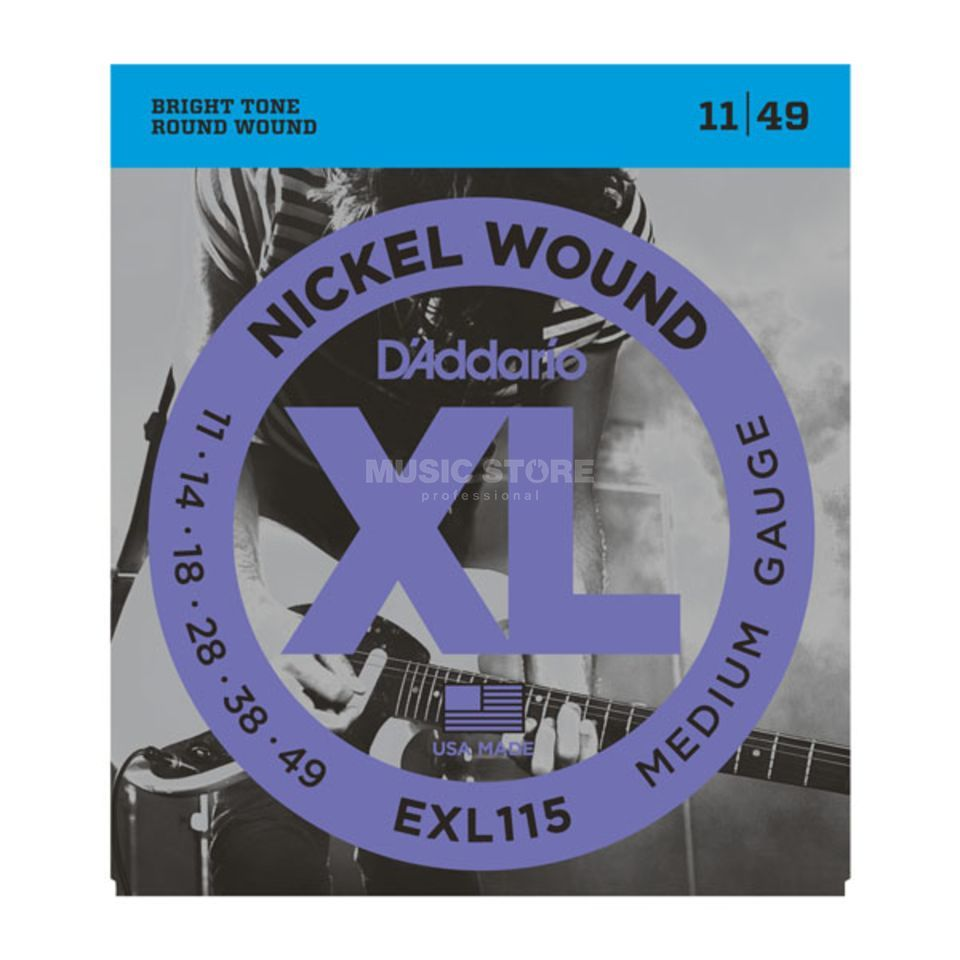 D'Addario E-Guitar Strings EXL115 11-49 Nickel Wound Product Image
