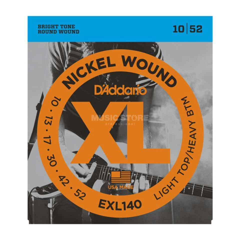 D'Addario E-Guitar Strings EXL140 10-52 Nickel Wound Produktbillede