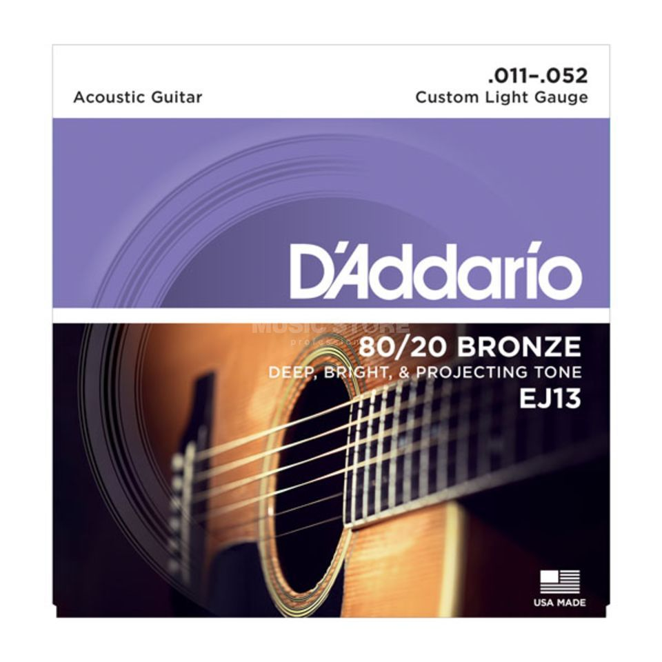 D'Addario EJ13 11-52 80/20 Bronze Custom Light Produktbild