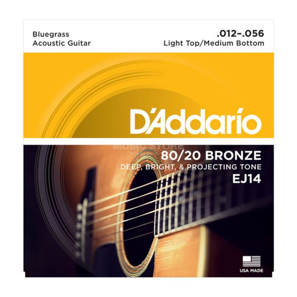 D'Addario EJ14 12-56 80/20 Bronze Light Top Medium Bottom Produktbild