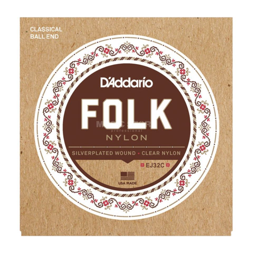 D'Addario EJ32C Folk Nylon Strings Ball End Produktbillede