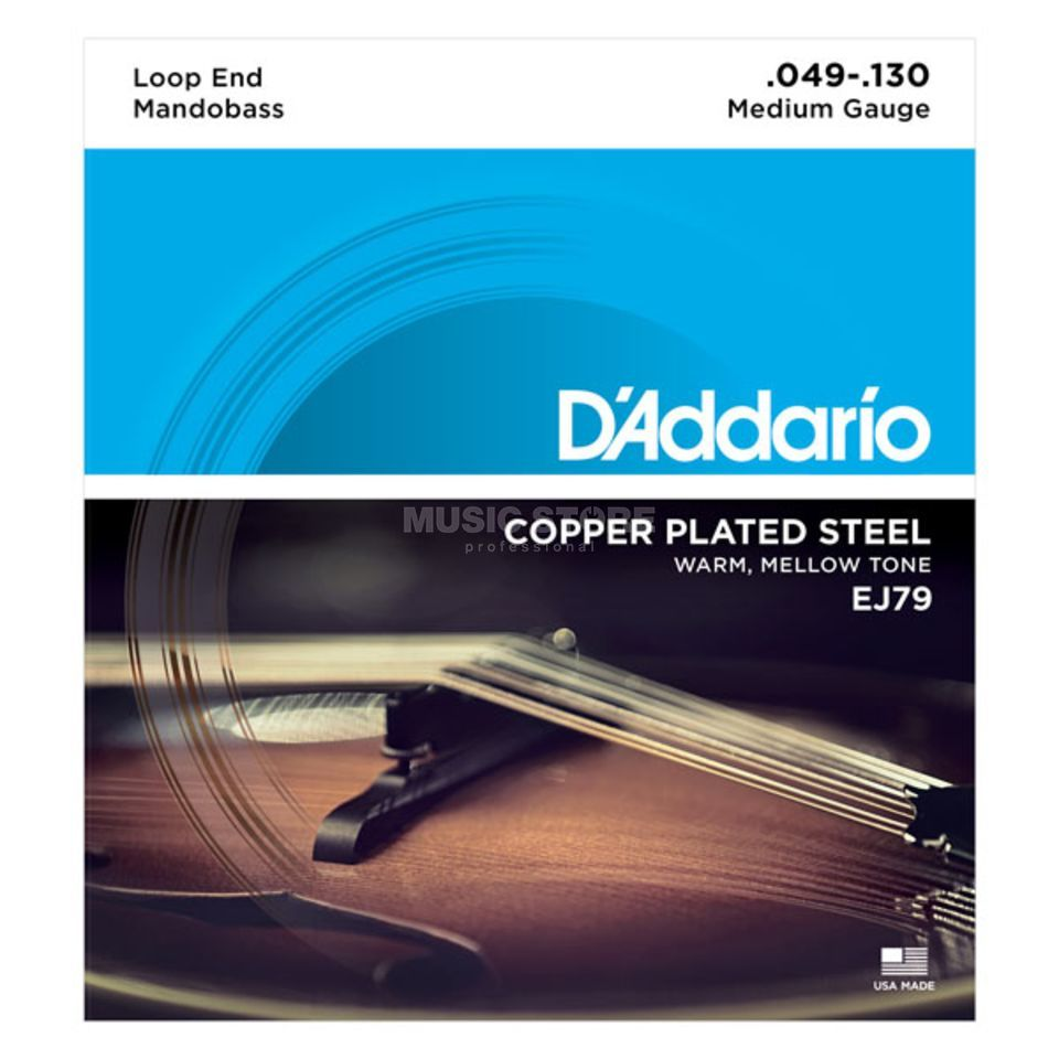 D'Addario EJ79 49-130 Mandobass Strings Copper Loop End Product Image