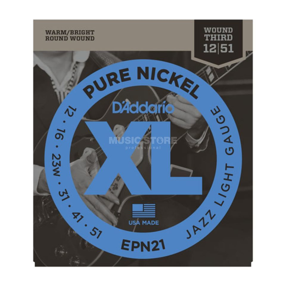 D'Addario EPN21 12-51 Pure Nickel Jazz Light Produktbild