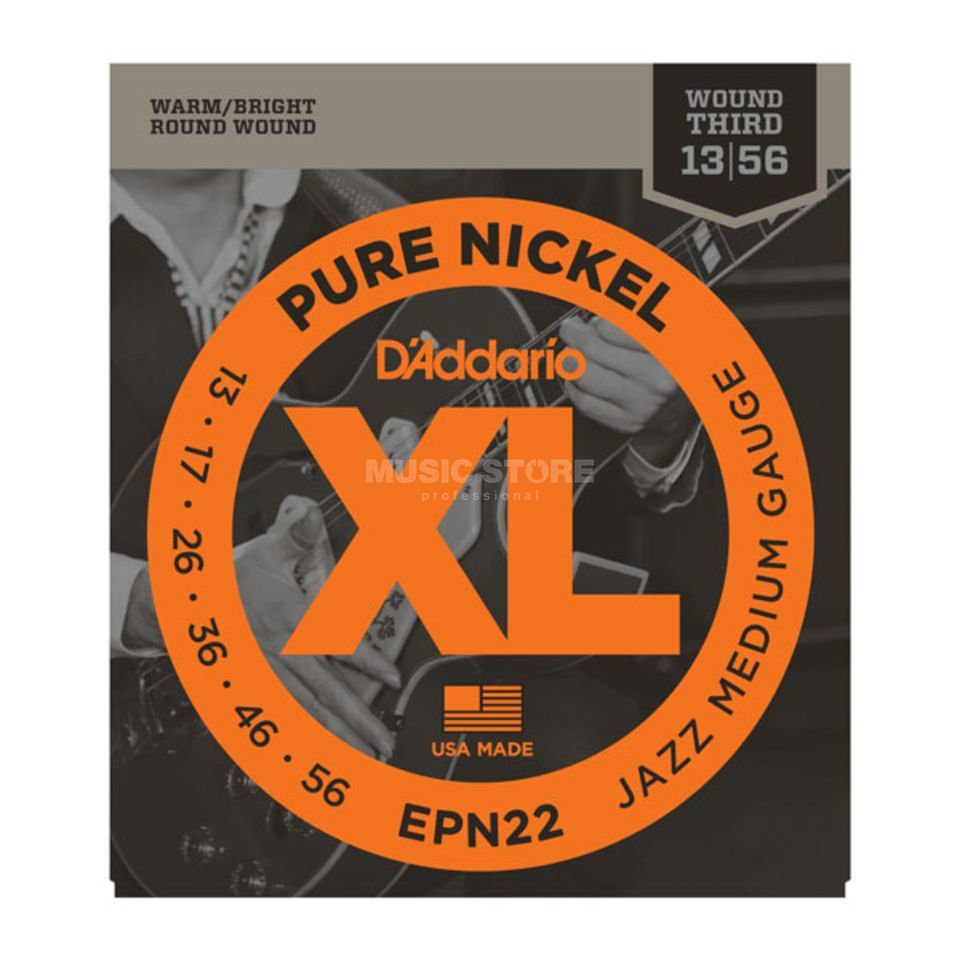 D'Addario EPN22 13-56 Pure Nickel Jazz Medium Produktbild