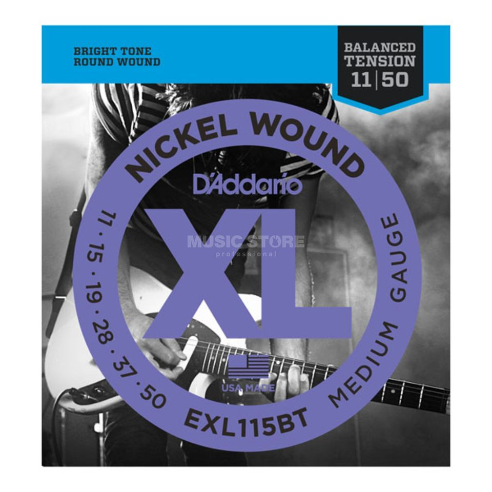 D'Addario EXL115BT 11-50 Balanced Tension Nickel Wound Produktbild