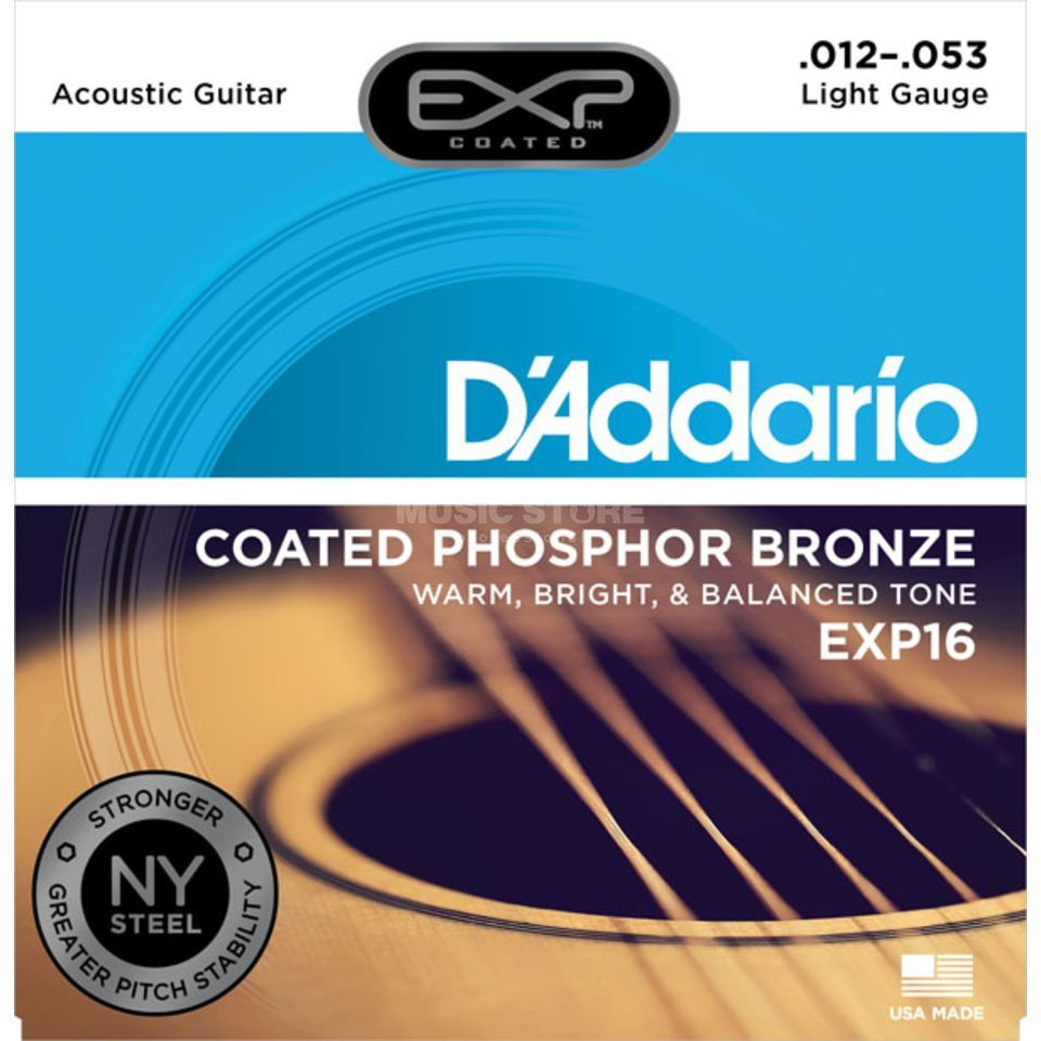 D'Addario EXP16 12-53 Coated Phosphor Bronze Light Produktbild