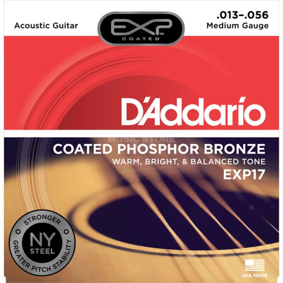 D'Addario EXP17 13-56 Coated Phosphor Bronze Medium Produktbild