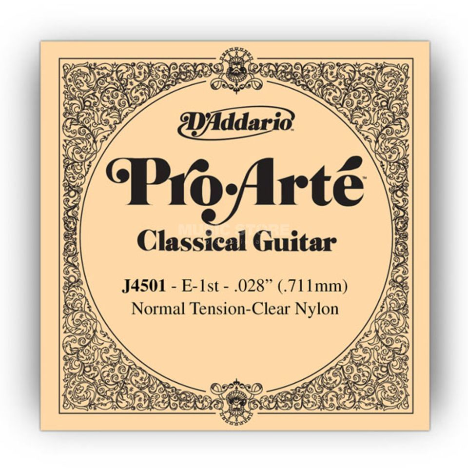 D'Addario J4501 E1 Pro Arte Single String Normal Tension  028/J45 Produktbillede