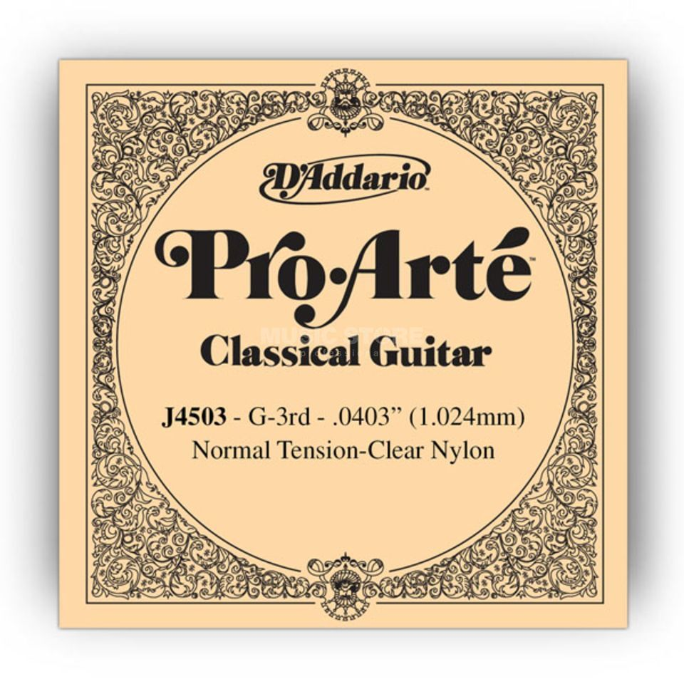 D'Addario J4503 G3 Pro Arte Single String Normal Tension  0403/J45 Produktbillede