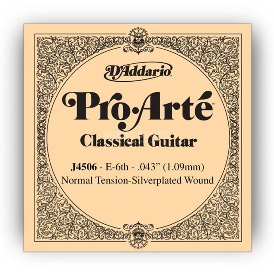 D'Addario J4506 E6 Pro Arte Single String Normal Tension  043/J45 Produktbillede