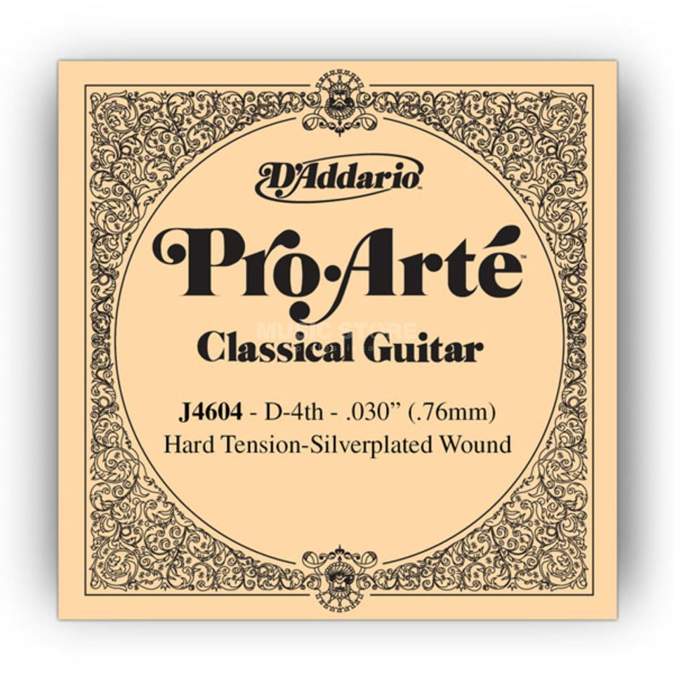 D'Addario J4604 D4 Pro Arte Single String Hard Tension 030/J46 Produktbillede