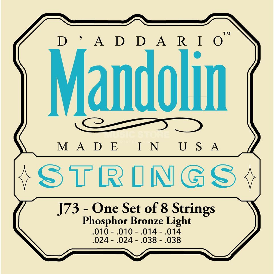 D'Addario Mandolin Strings J73 10-38 Phosphor Bronze Loop End Produktbillede