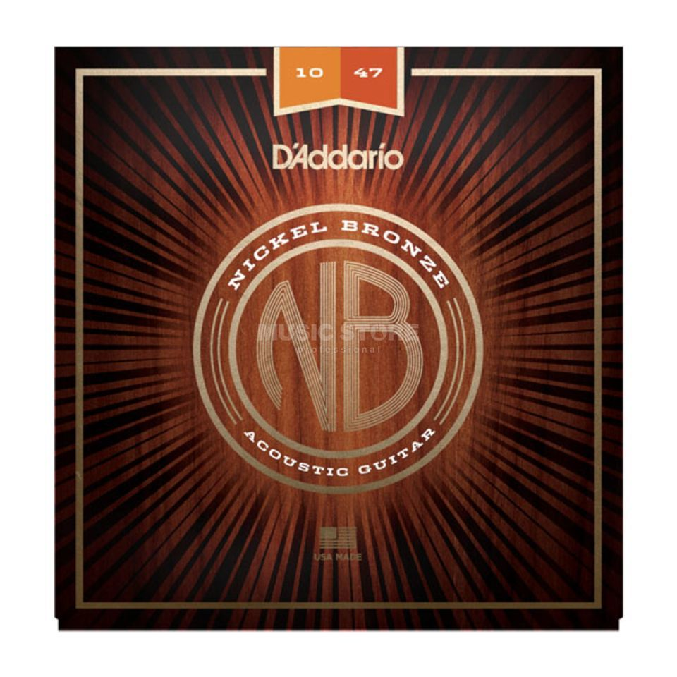 D'Addario NB1047 10-47 Nickel Bronze Acoustic Extra Light Produktbild