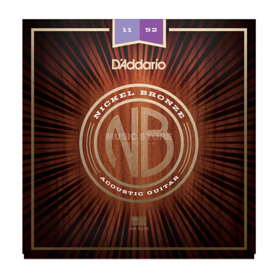 D'Addario NB1152 11-52 Nickel Bronze Acoustic Custom Light Product Image