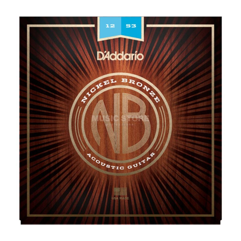 D'Addario NB1253 12-53 Nickel Bronze Acoustic Light Produktbild