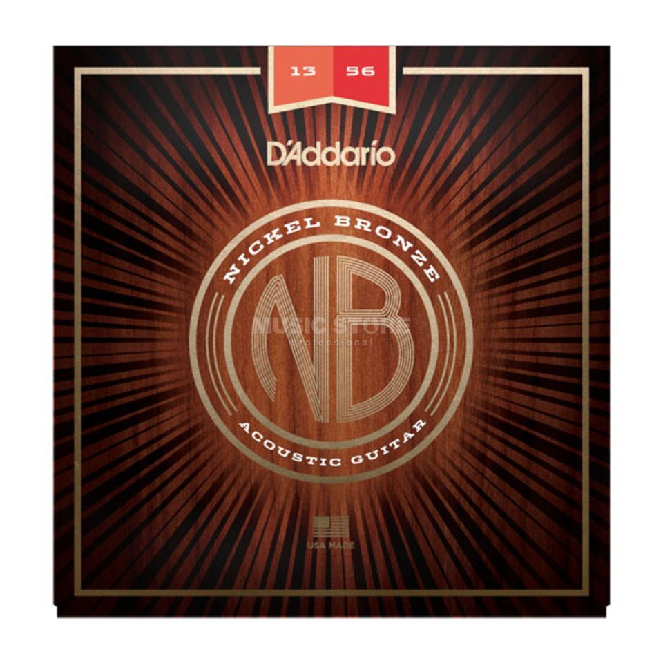 D'Addario NB1356 13-56 Nickel Bronze Acoustic Light Medium Produktbild