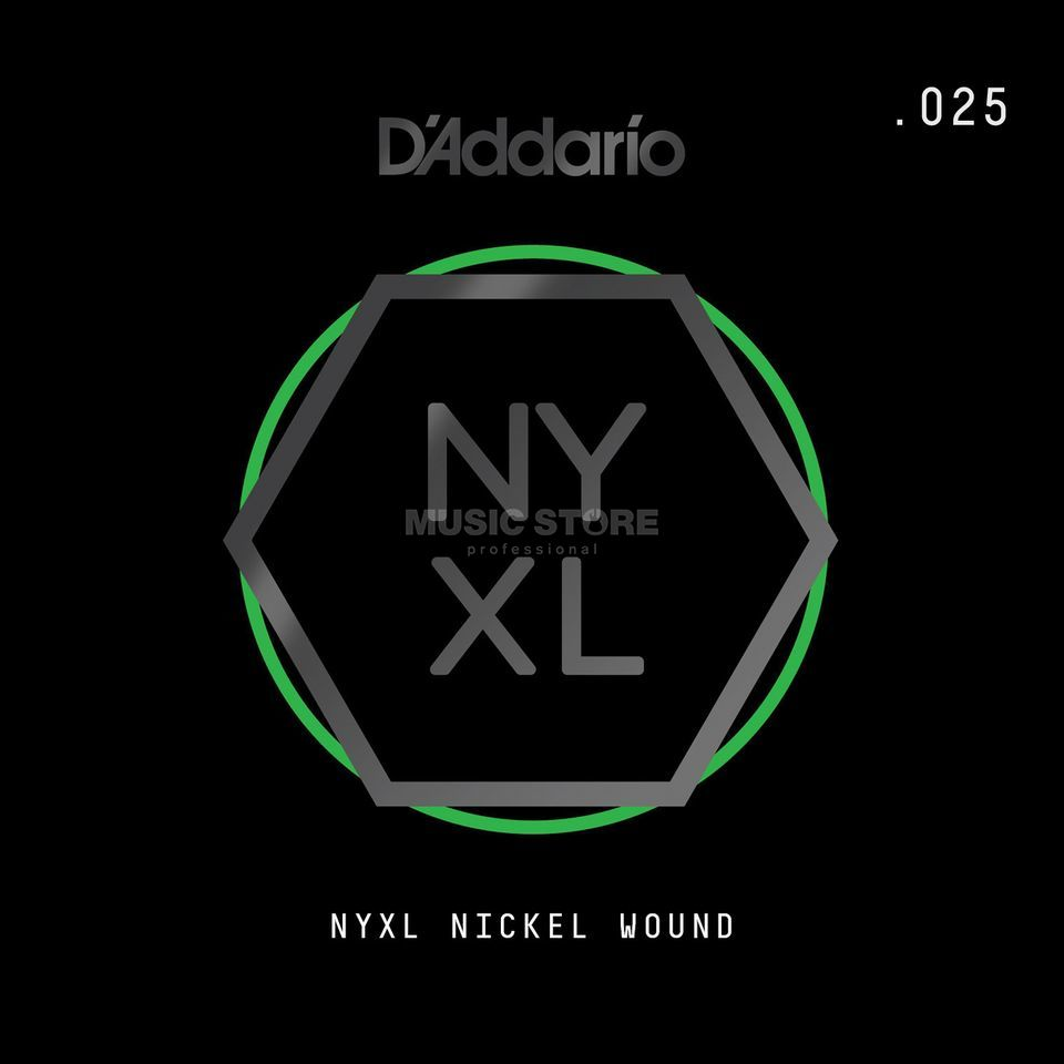D'Addario NYNW025 Single String Nickel Wound Productafbeelding