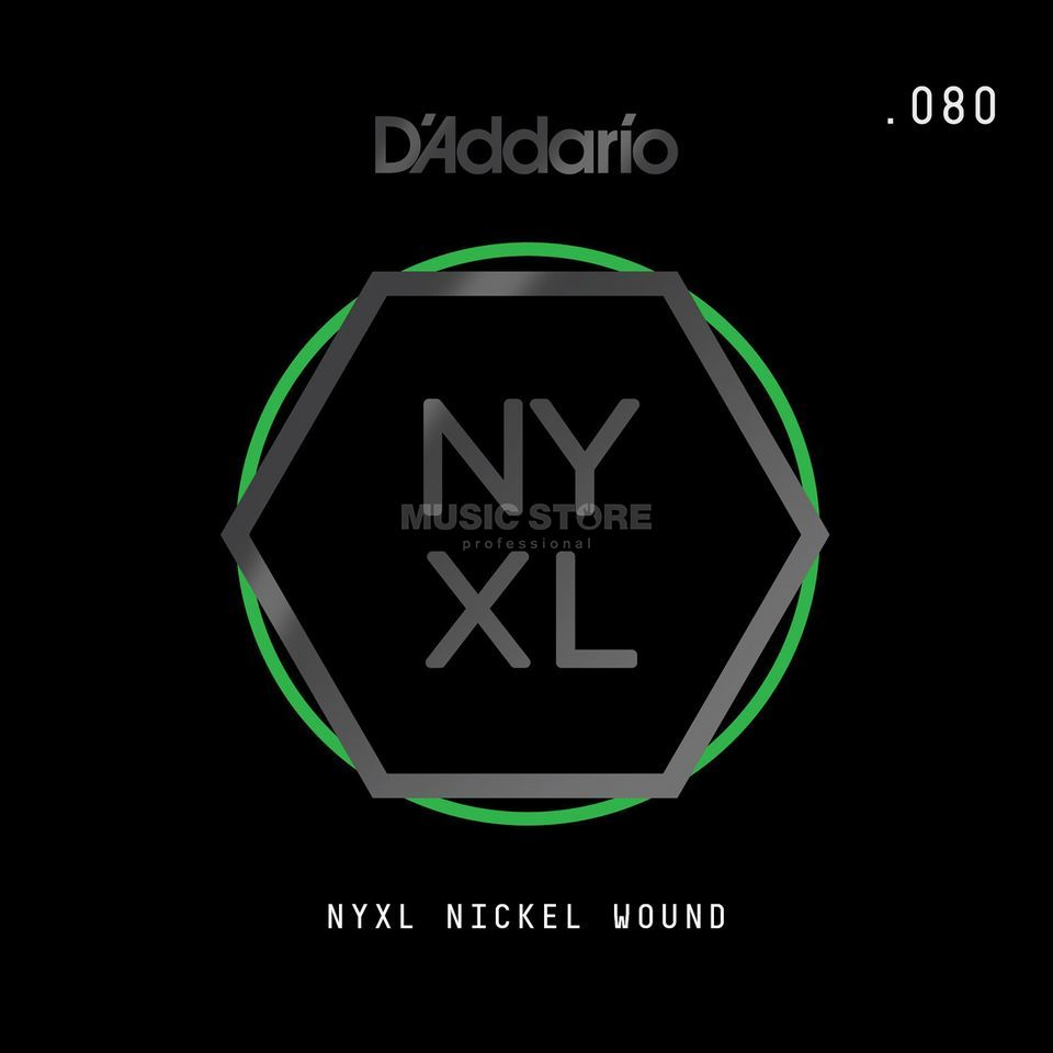 D'Addario NYNW080 Single String Nickel Wound Productafbeelding