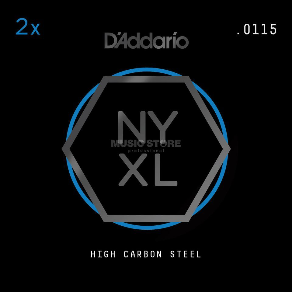 D'Addario NYPL0115 Plain Single String 2-Pack - High Carbon Steel Produktbillede