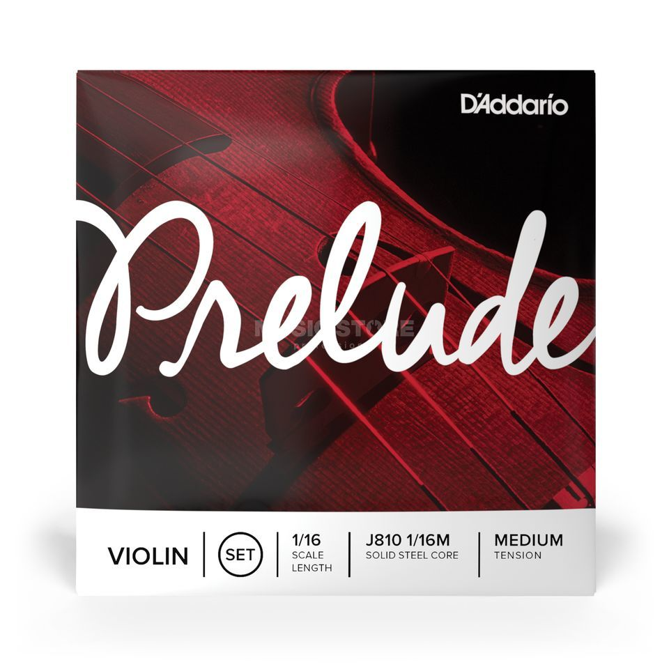 D'Addario Orchestral Violin Strings Prelude J810-1/16 Medium Tension Productafbeelding