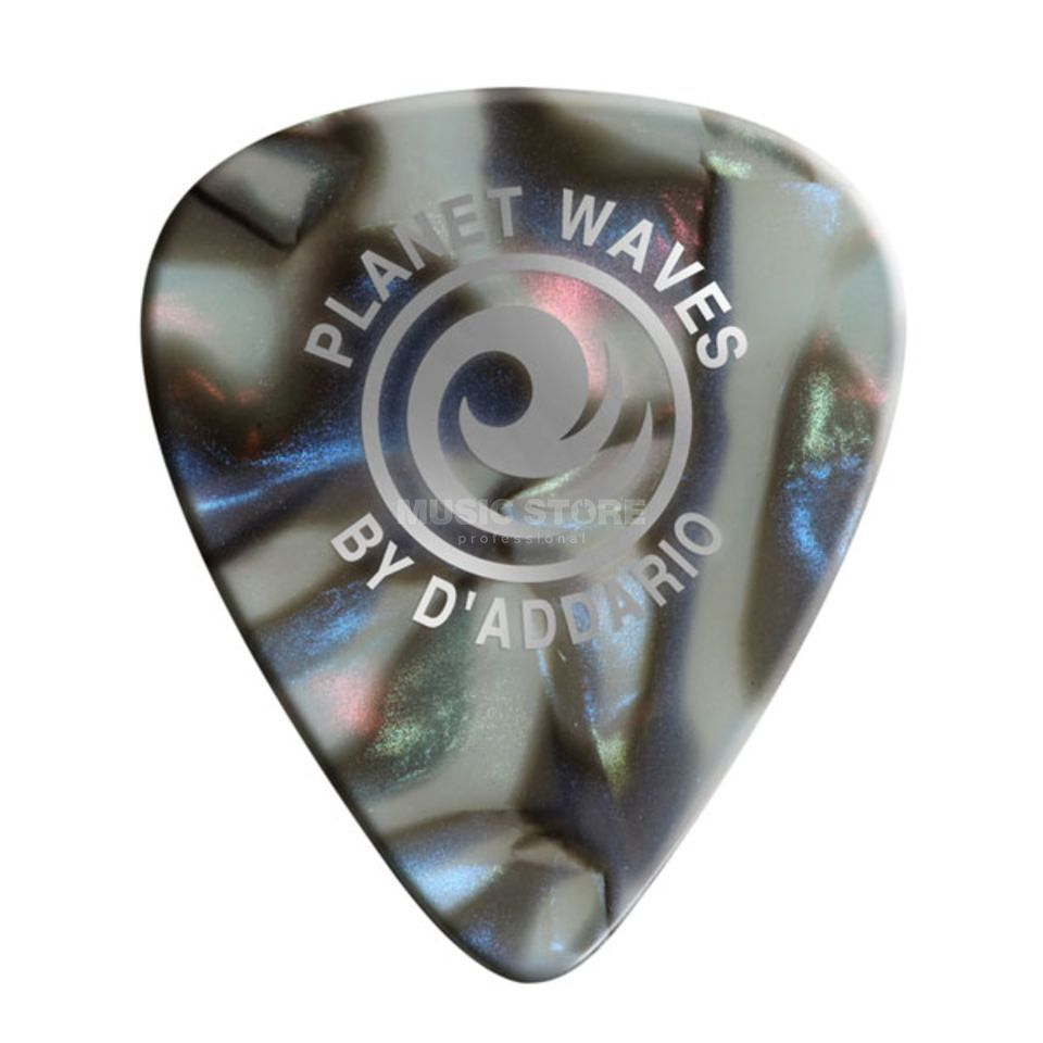 D'Addario Planet Waves Abalone Picks 0,50mm 10-Pack, 1CAB2-10 Produktbillede