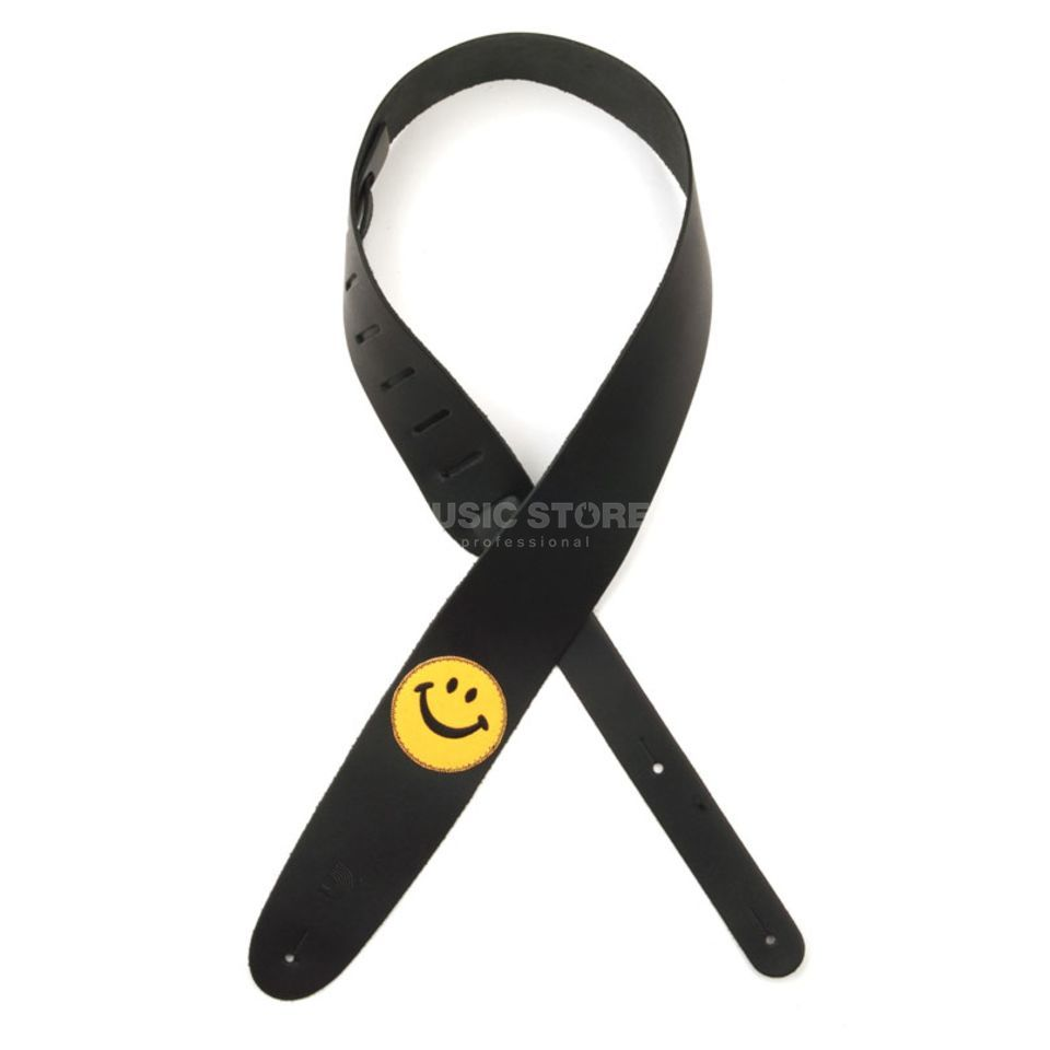 D'Addario Planet Waves Guitar Strap 25PL02 Smiley Icon Leather Collection Produktbillede