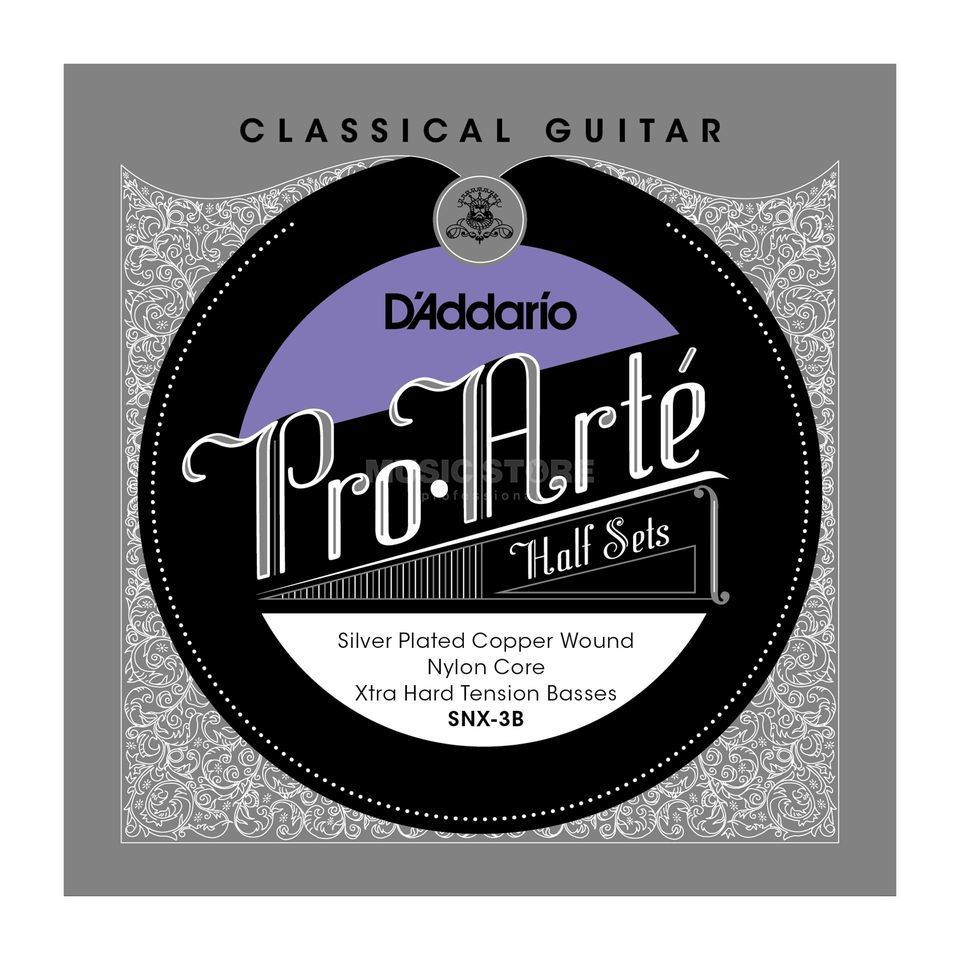 D'Addario Pro Arte Bass Set SNX-3B Silverplated, Extra Hard Produktbillede