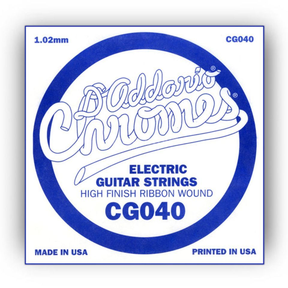 D'Addario Single String CG040 Flat Wound  Product Image
