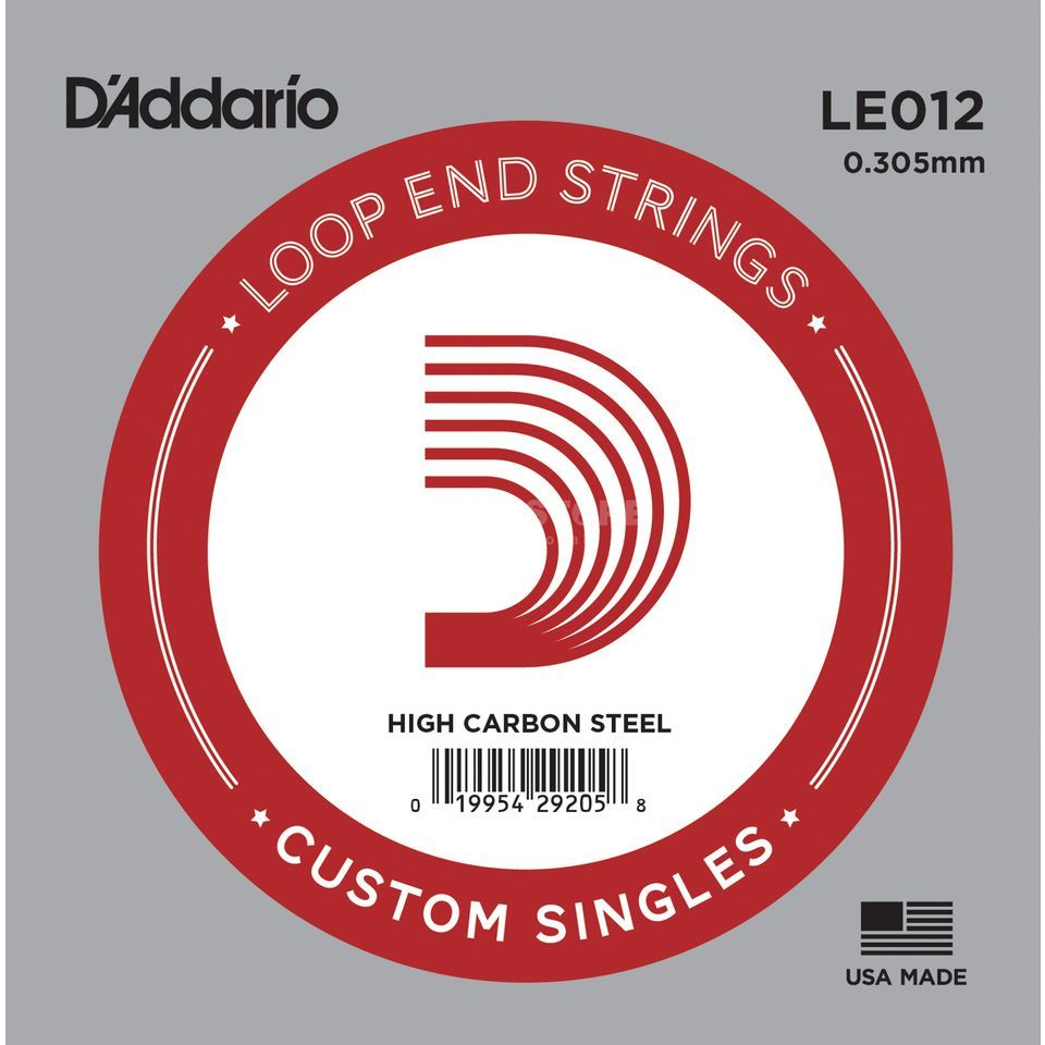 D'Addario Single String LE012 Loop End Plain Steel Product Image