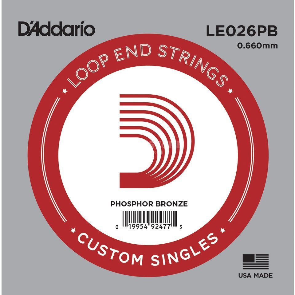 D'Addario Single String LE026PB Loop End Phosphor Bronze Produktbillede