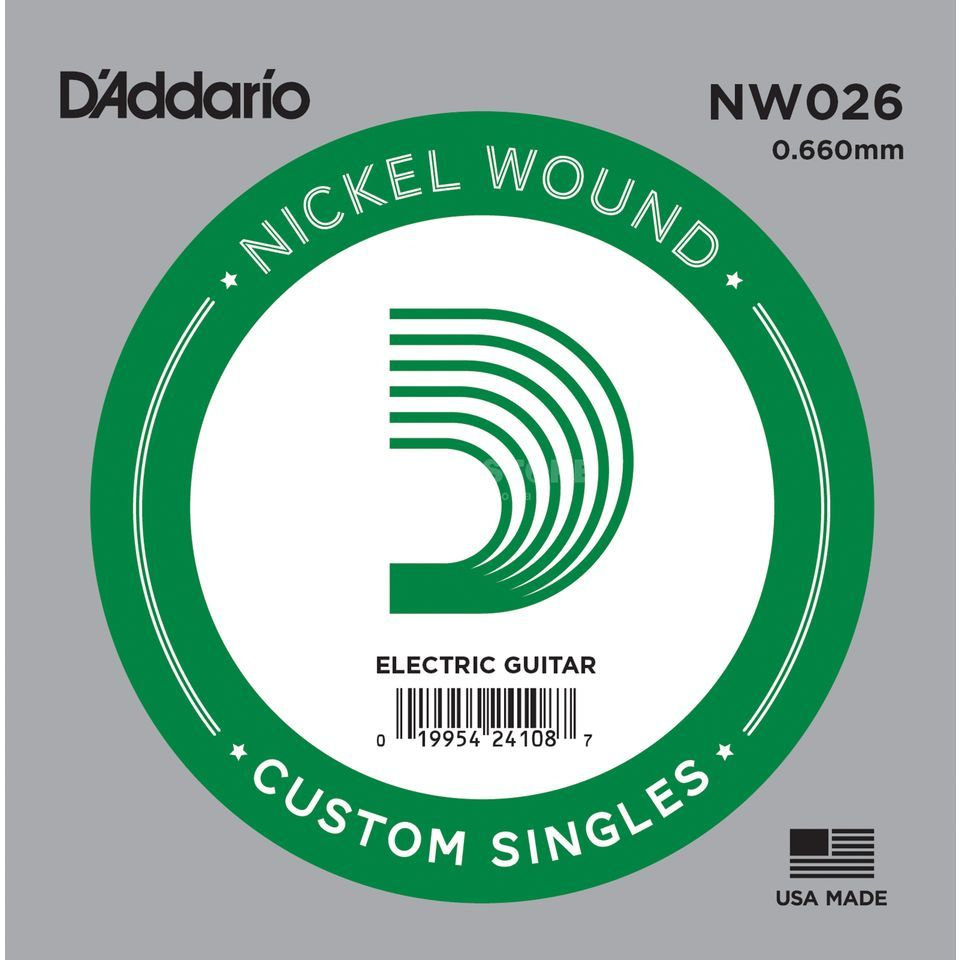 D'Addario Single String NW026 Nickelwound Immagine prodotto