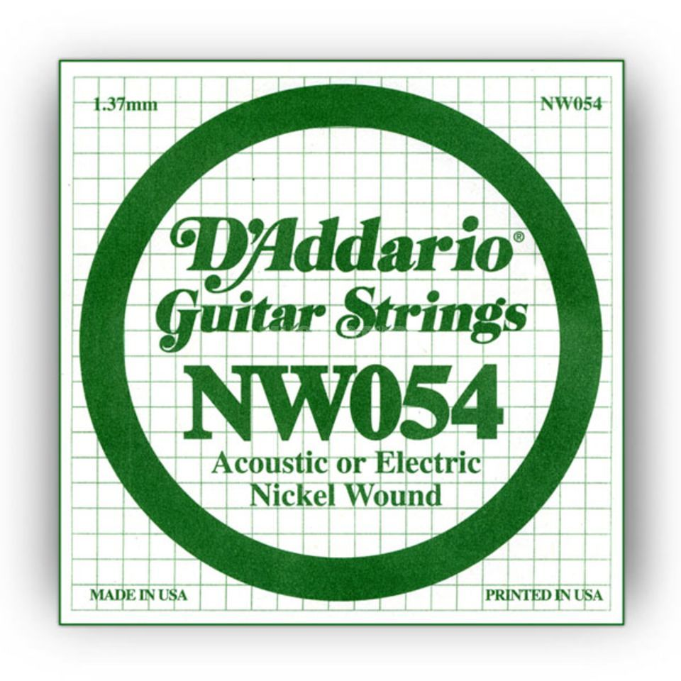D'Addario Single String NW054 Nickelwound Produktbillede
