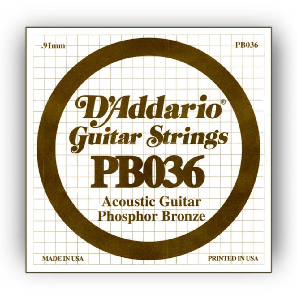 D'Addario Single String PB036 Phosphor Bronze Produktbillede