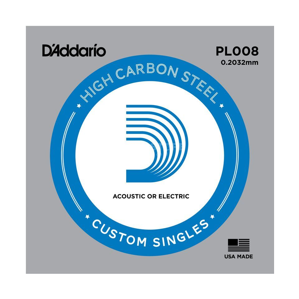 D'Addario Single String PL008 Plain  Produktbillede