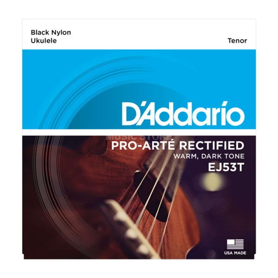 D'Addario Ukulele Strings EJ53T Tenor Black Nylon 28-36-36w-32 Product Image