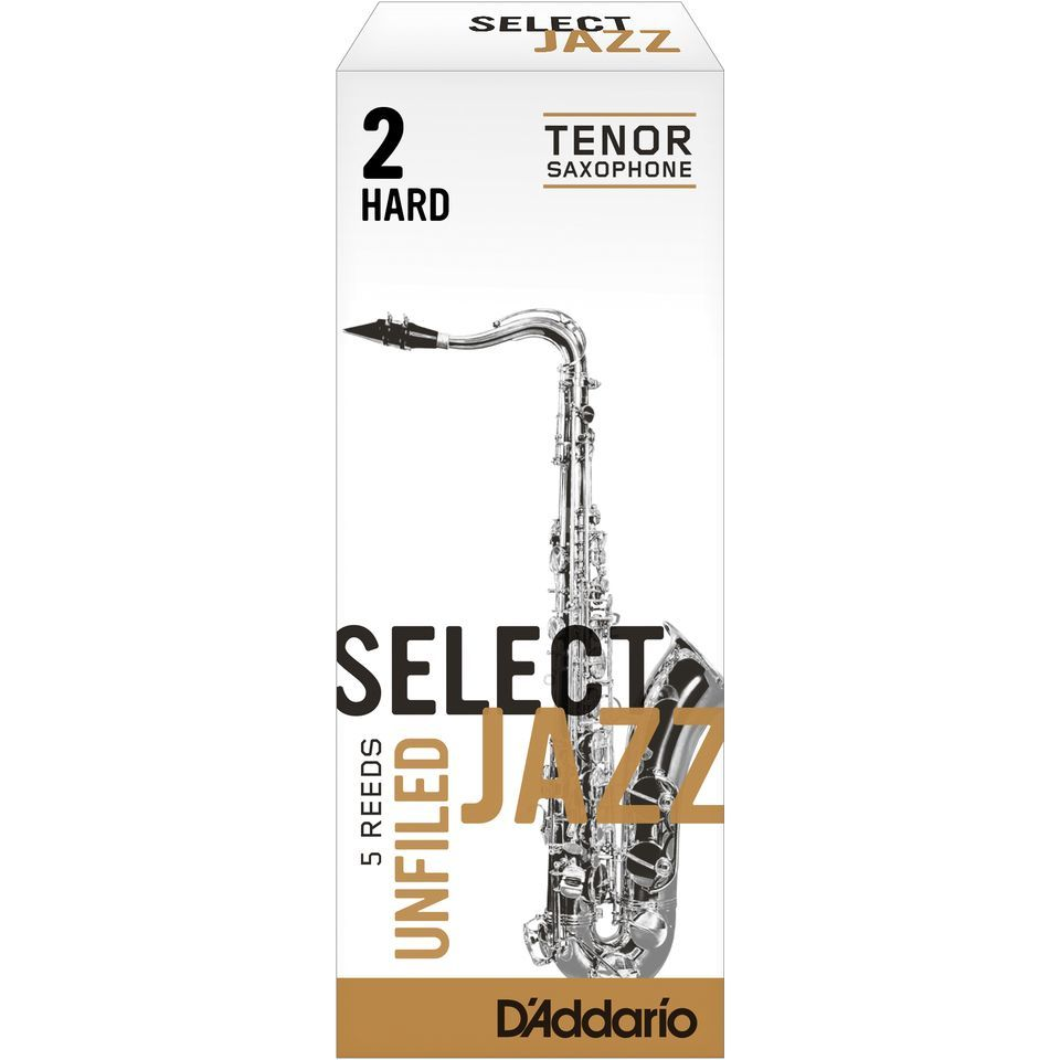 D'Addario Woodwinds Tenorsaxofoon  2H Unfiled doos met 5 rieten Productafbeelding
