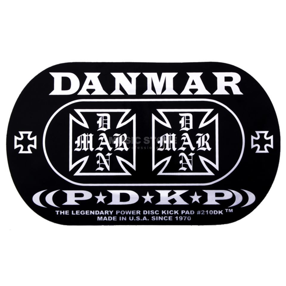 Danmar Drum Zubehör BassDrum Kickpad 210DKIC, Double Pedal, Iron Cross Изображение товара