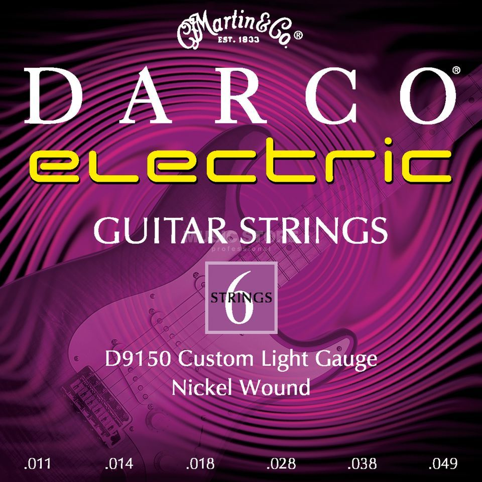 Darco E-Guitar Strings D9150 11-49 Nickel Produktbillede